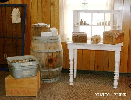 A Rustic Inspired Baby Shower Rustic Trunk